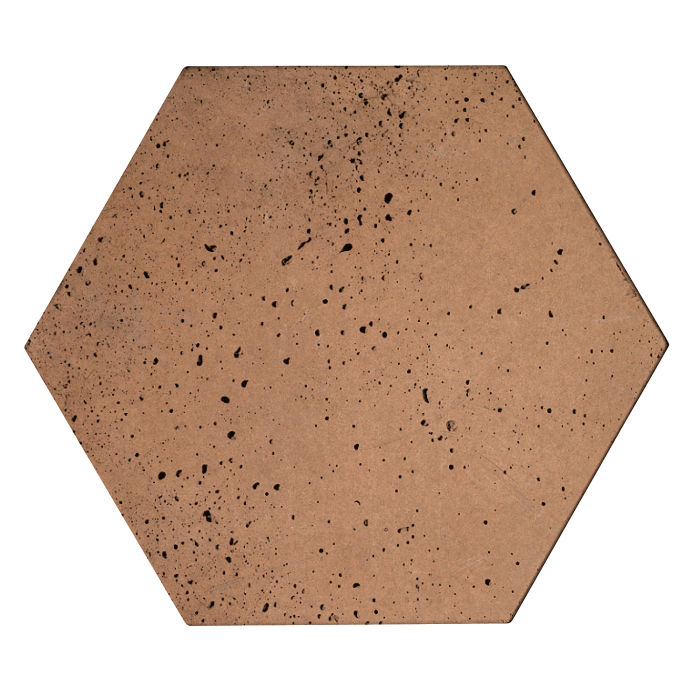 8x8 Roman Tile Hexagon Flagstone Travertine