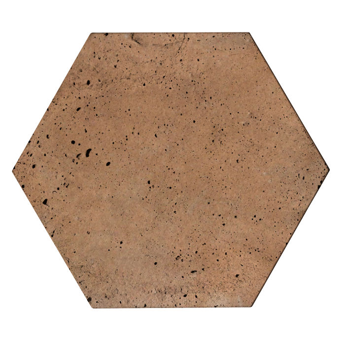 8x8 Roman Tile Hexagon Gold Luna