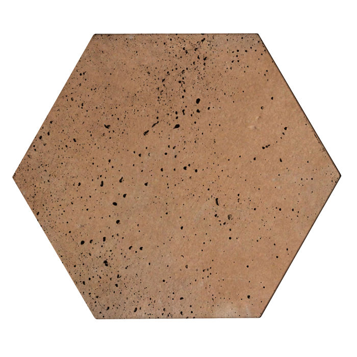 8x8 Roman Tile Hexagon Gold Travertine