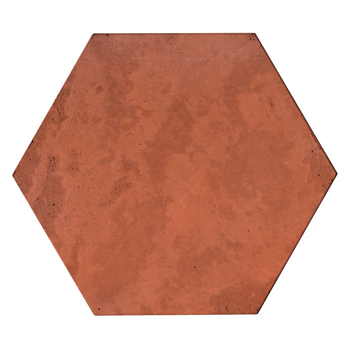 8x8 Roman Tile Hexagon Mission Red Limestone