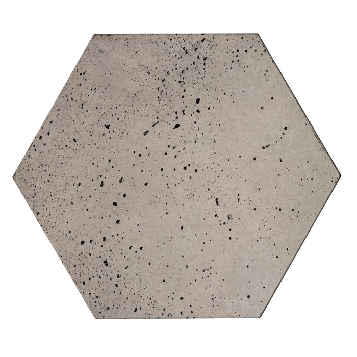 8x8 Roman Tile HexagonNatural Gray Travertine