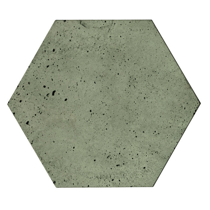 8x8 Roman Tile Hexagon Ocean Green Light Luna