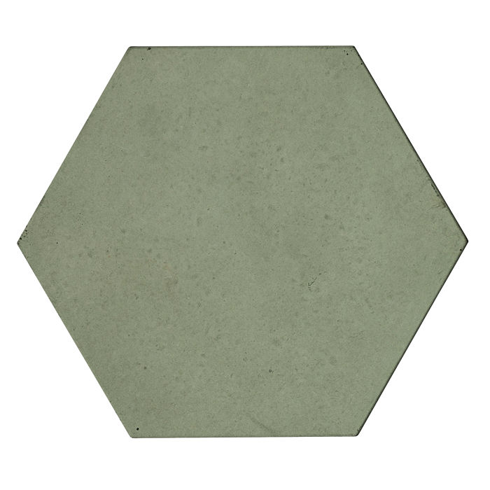 8x8 Roman Tile Hexagon Ocean Green Light
