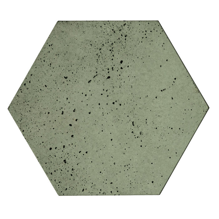 8x8 Roman Tile Hexagon Ocean Green Light Travertine
