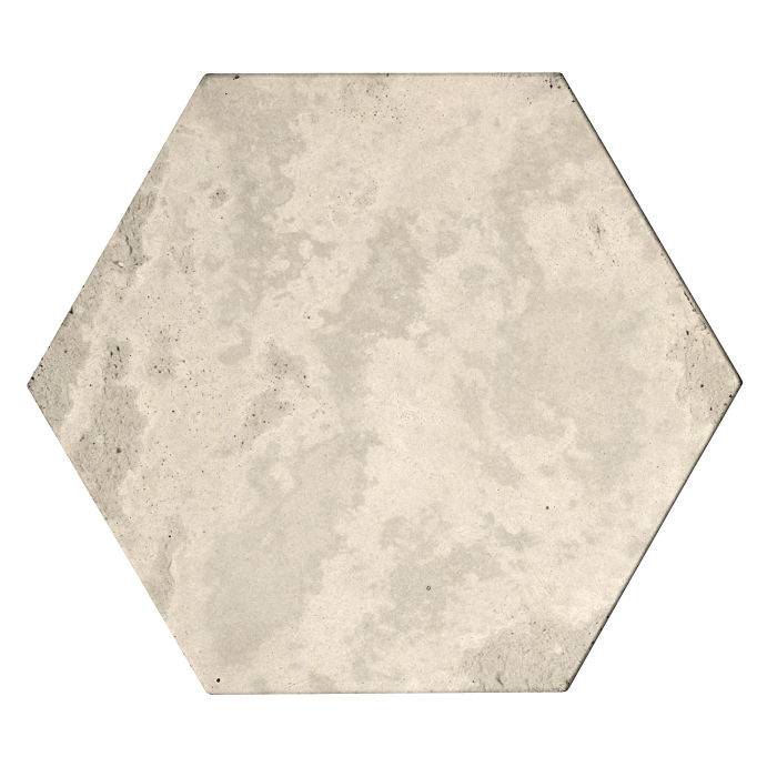 8x8 Roman Tile Hexagon Rice Limestone