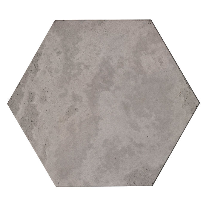 8x8 Roman Tile Hexagon Sidewalk Gray Limestone