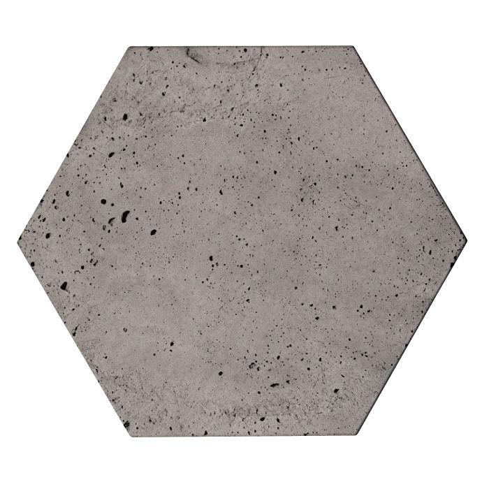 8x8 Roman Tile Hexagon Sidewalk Gray Luna