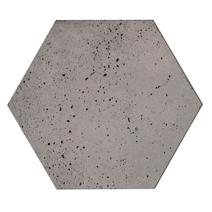 8x8 Roman Tile Hexagon Sidewalk Gray Travertine
