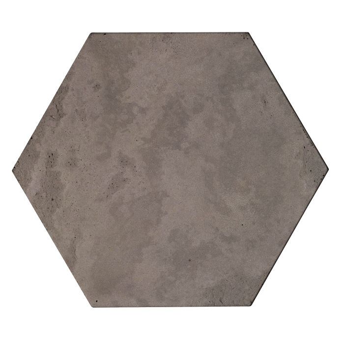 8x8 Roman Tile Hexagon Smoke Limestone