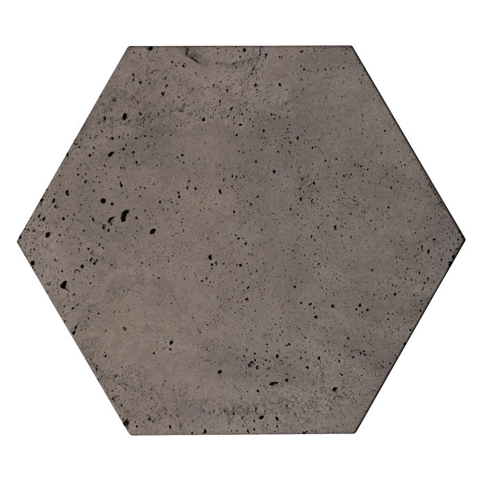 8x8 Roman Tile Hexagon Smoke Luna