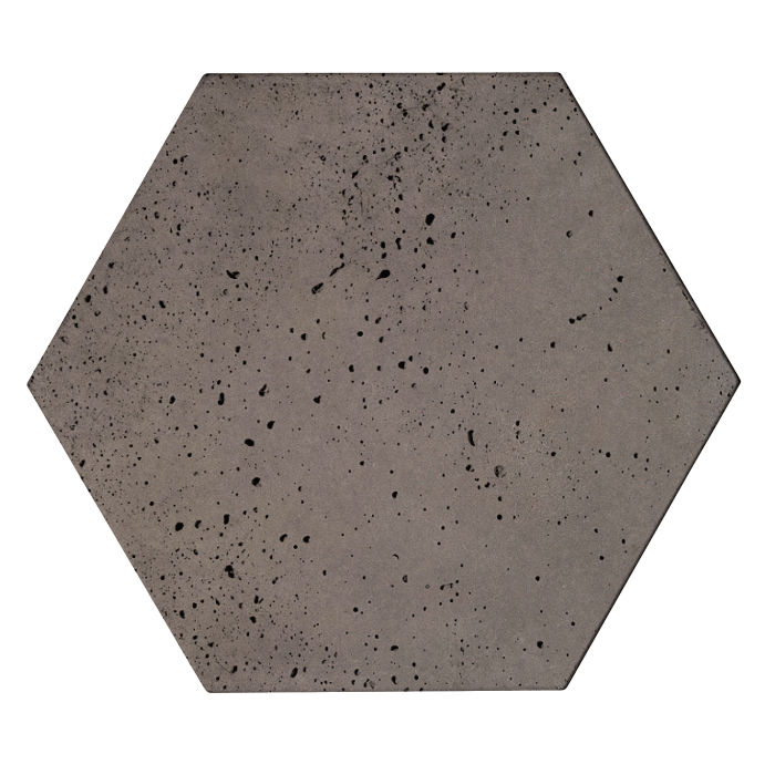 8x8 Roman Tile Hexagon Smoke Travertine