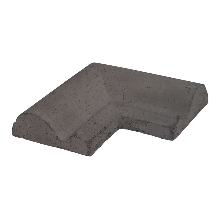 Roman Tile PC-1 Corner Charcoal Travertine