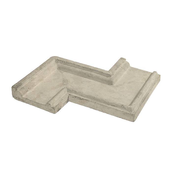 Roman PC-5 Zig Zag Corner Early Gray Limestone