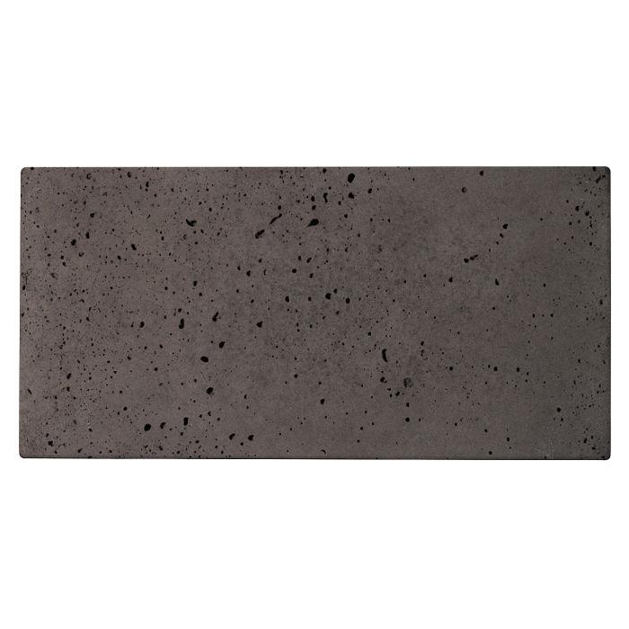 12x24 Roman Tile Charcoal Travertine