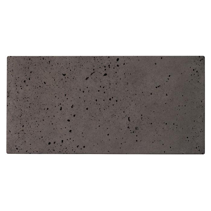 6x12 Roman Tile Charcoal Travertine