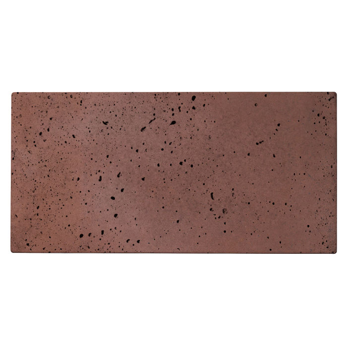 6x12 Roman Tile City Hall Red Travertine