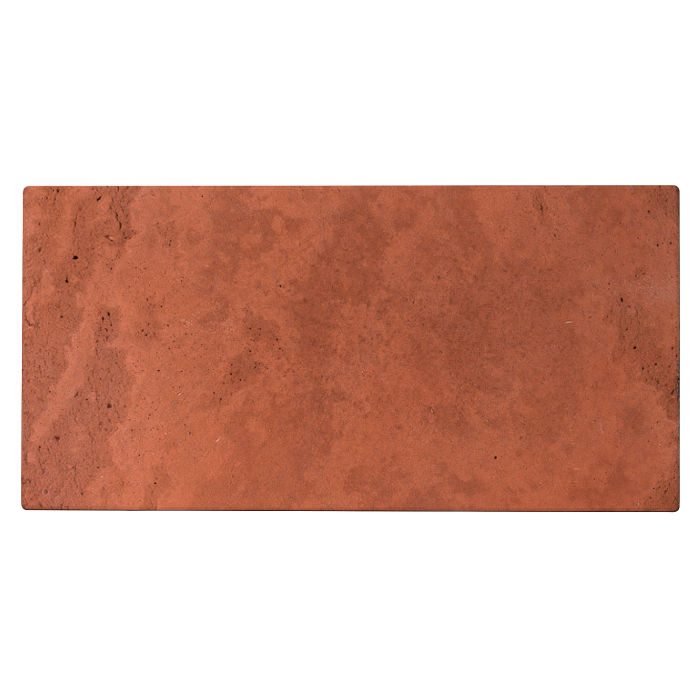 6x12 Roman Tile Mission Red Limestone