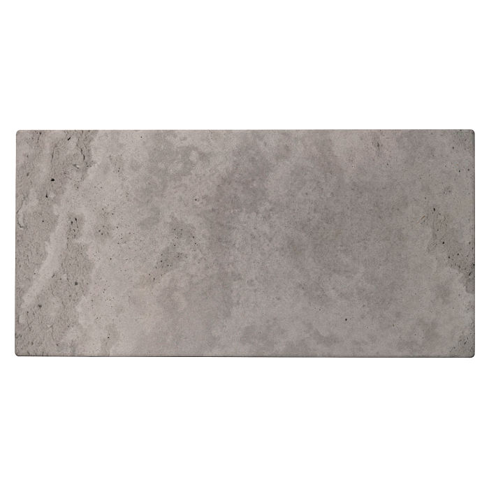6x12 Roman Tile Sidewalk Gray Limestone