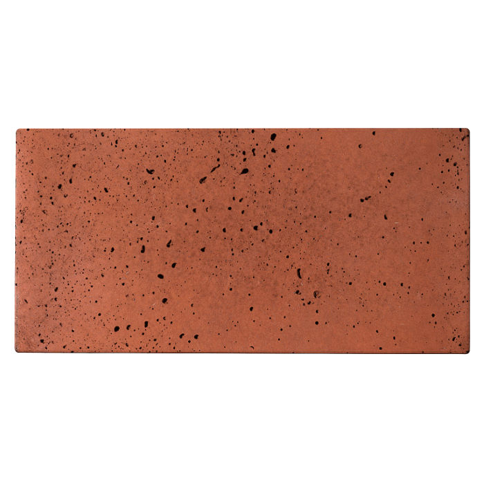 8x16 Roman Tile Mission Red Travertine
