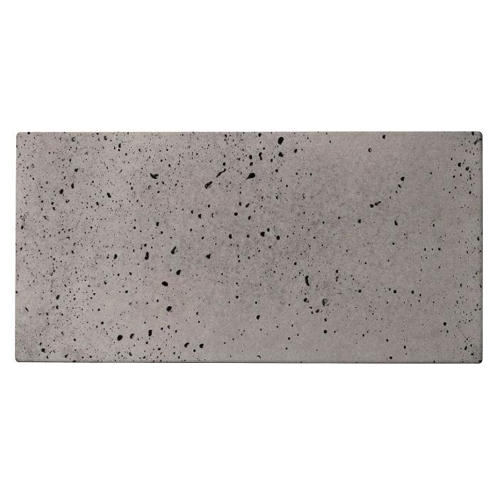 8x16 Roman Tile Sidewalk Gray Travertine