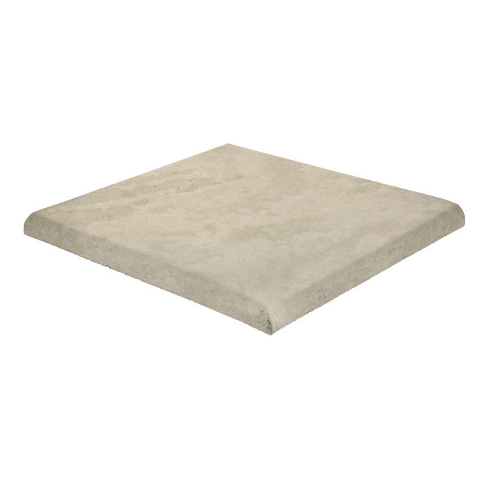 14x14 Roman Tile SBN Corner Early Gray Limestone