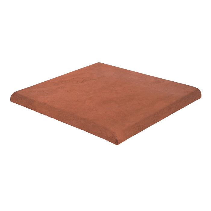 18x18 Roman Tile SBN Corner Mission Red Limestone