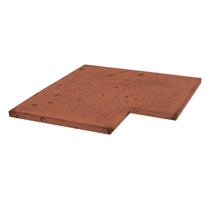 14x14 Roman Tile SBN Inside Corner Mission Red Travertine