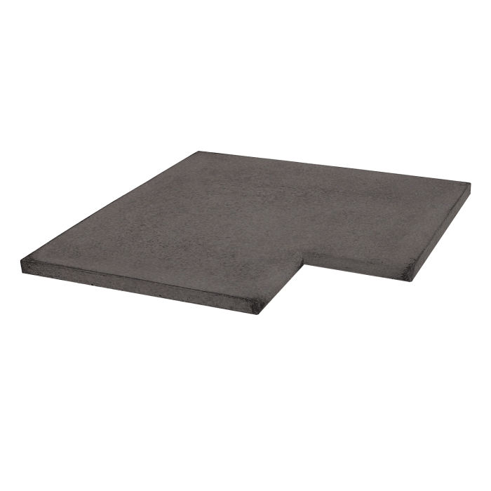 16x16 Roman Tile SBN Inside Corner Charcoal