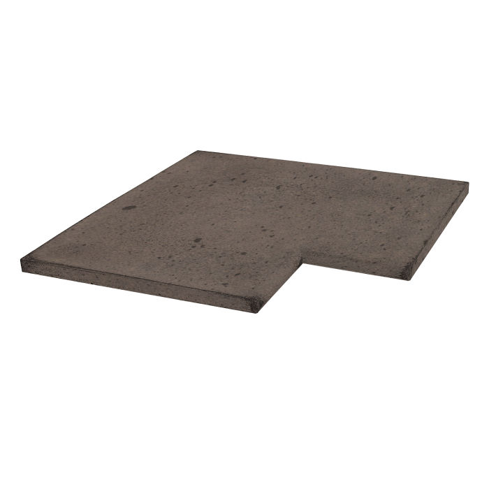 18x18 Roman Tile SBN Inside Corner Charley Brown Luna