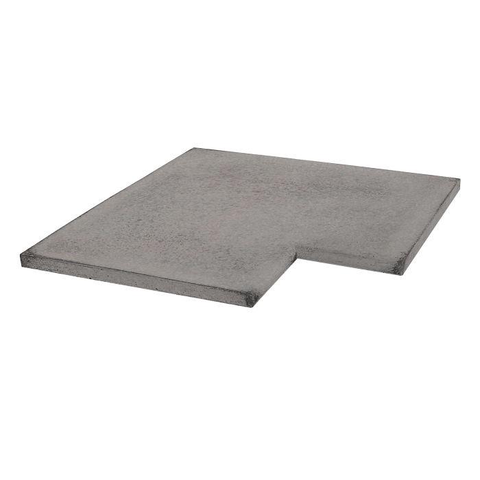 18x18 Roman Tile SBN Inside Corner Sidewalk Gray