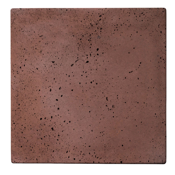 24x24 Roman Tile City Hall Red Travertine