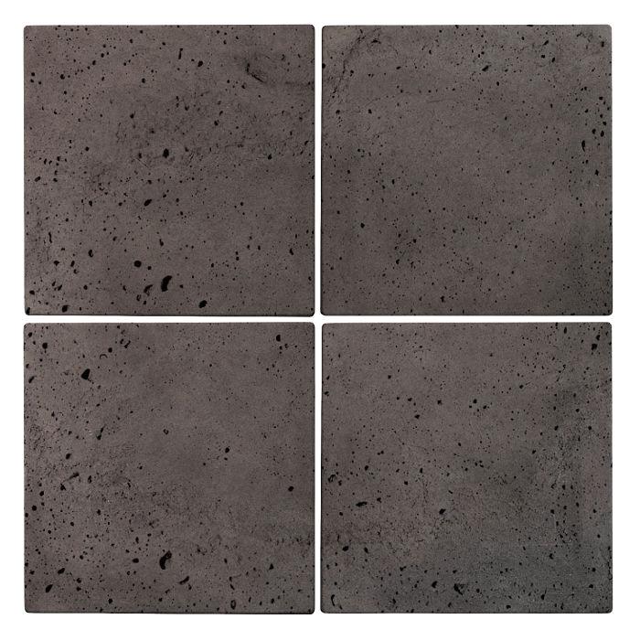 6x6 Roman Tile Charcoal Luna