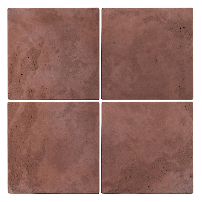 6x6 Roman Tile City Hall Red Limestone