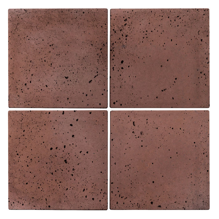 6x6 Roman Tile City Hall Red Travertine