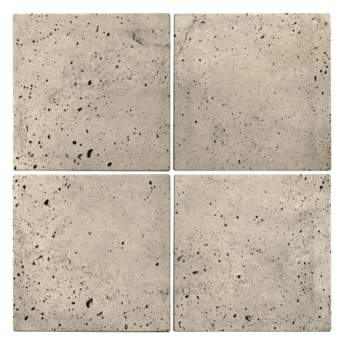 6x6 Roman Tile Early Gray Luna