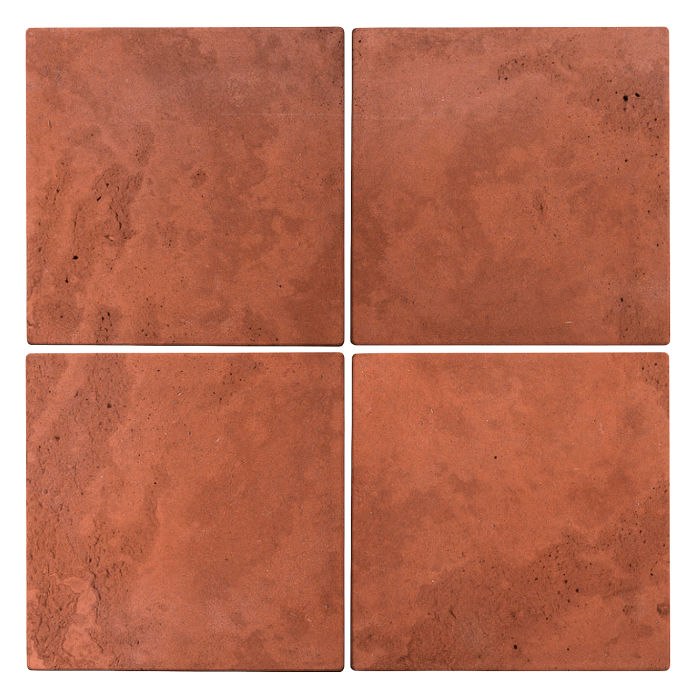 6x6 Roman Tile Mission Red Limestone