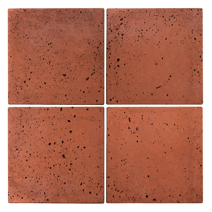6x6 Roman Tile Mission Red Travertine
