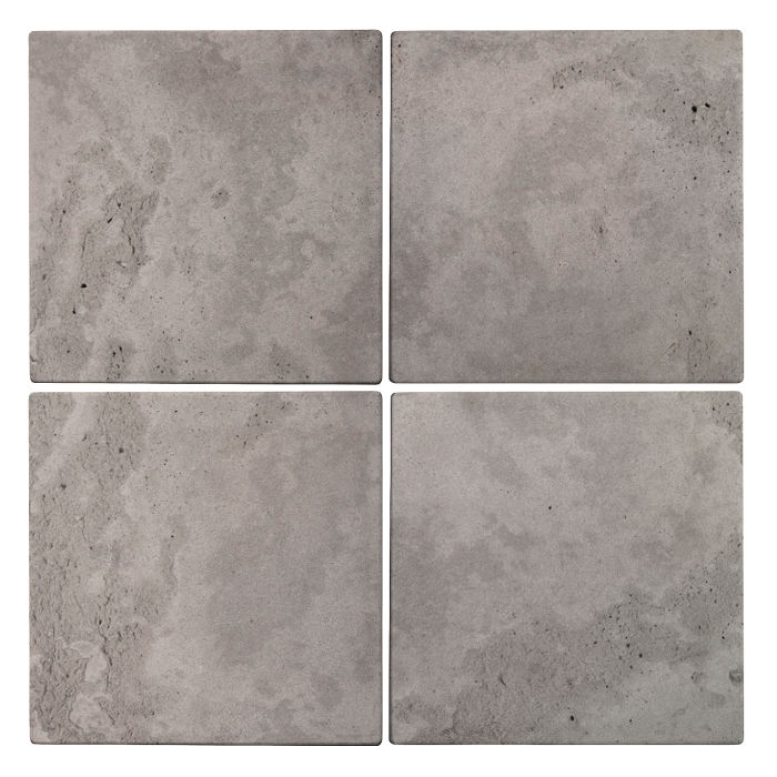 6x6 Roman Tile Sidewalk Gray Limestone