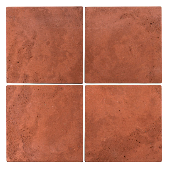 8x8 Roman Tile Mission Red Limestone