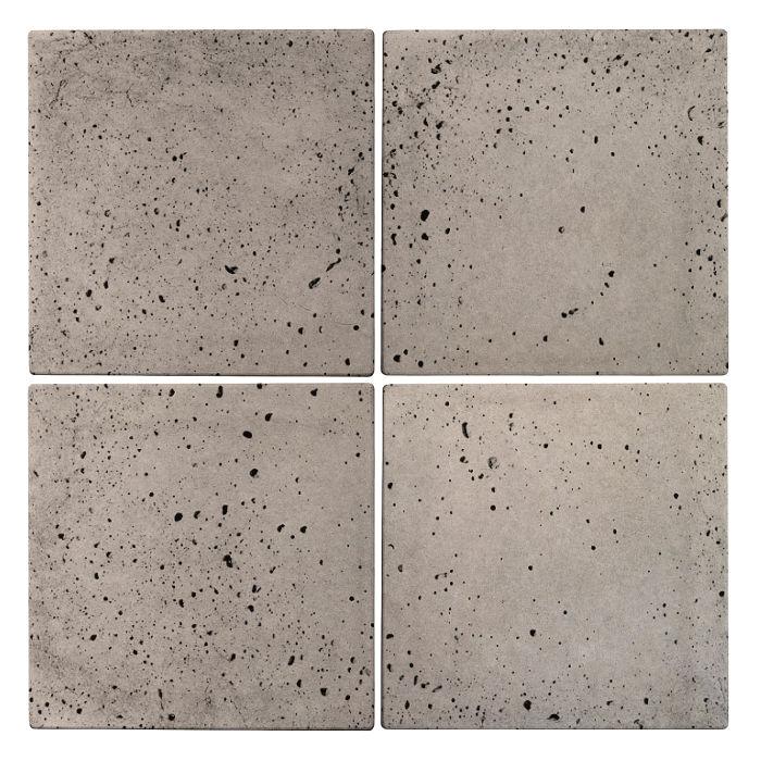 8x8 Roman TileNatural Gray Travertine