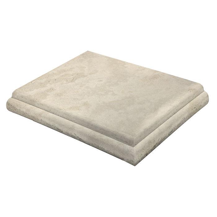 18x18 Roman Tile STYLE 1 Staritread Corner Rice Limestone