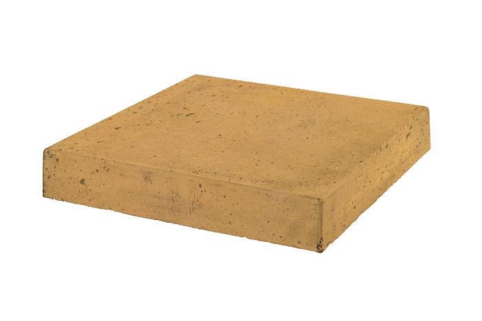12x12 Roman Tile Stairtread Corner Buff Luna