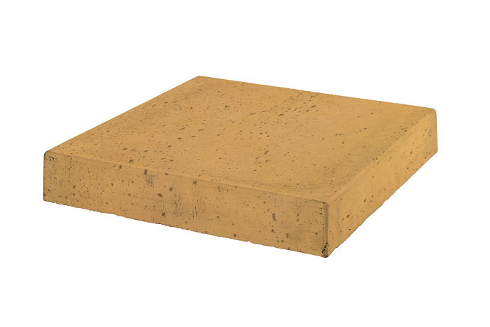 12x12 Roman Tile Stairtread Corner Buff Travertine