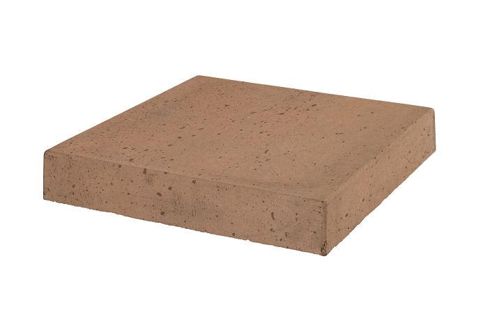 18x18 Roman Tile Stairtread Corner Flagstone Travertine