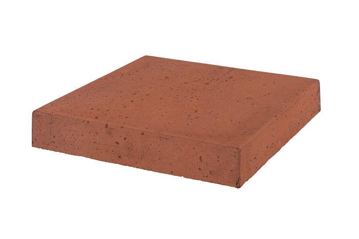 18x18 Roman Tile Stairtread Corner Mission Red Travertine