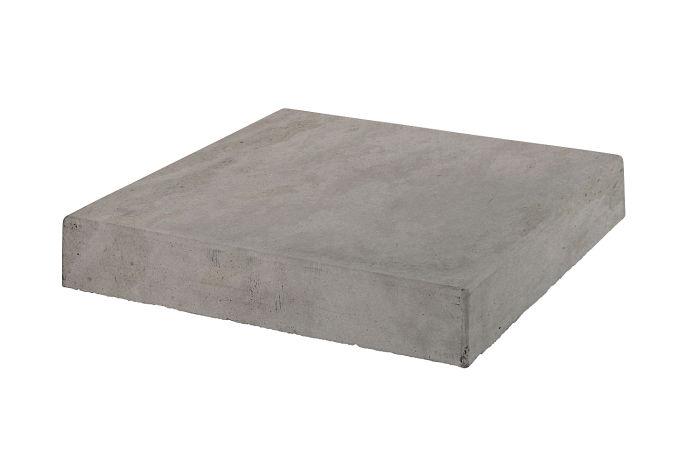 18x18 Roman Tile Stairtread Corner Sidewalk Gray Limestone