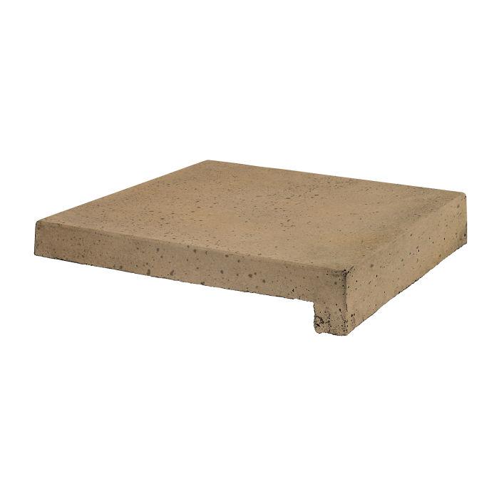 12x12 Roman Tile Stairtread Caqui Travertine
