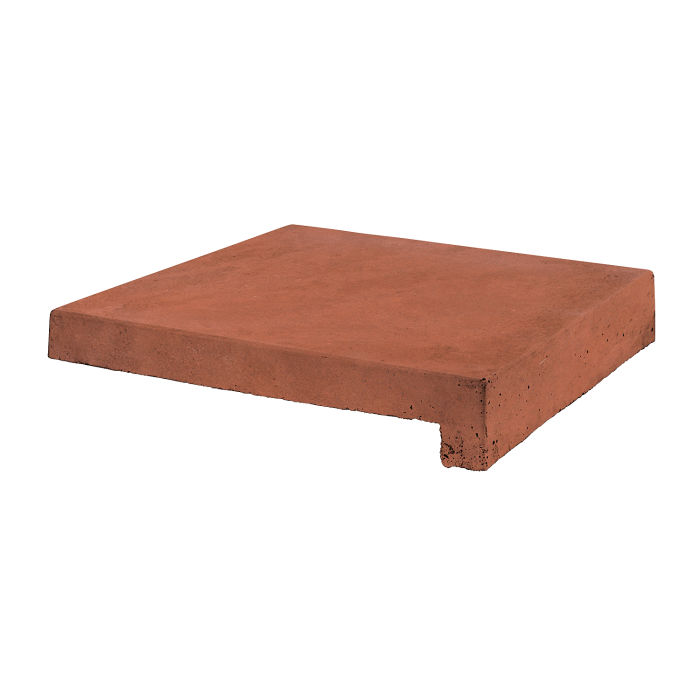 12x12 Roman Tile Stairtread Mission Red Limestone