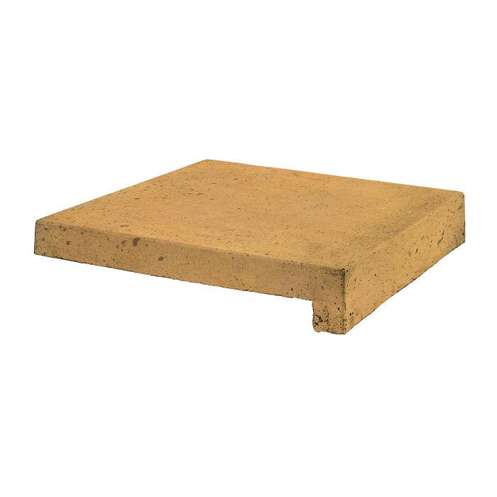 18x18 Roman Tile Stairtread Buff Luna