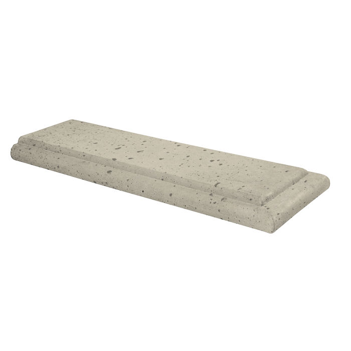 12x24 Roman Wall Cap Terminal Early Gray Travertine